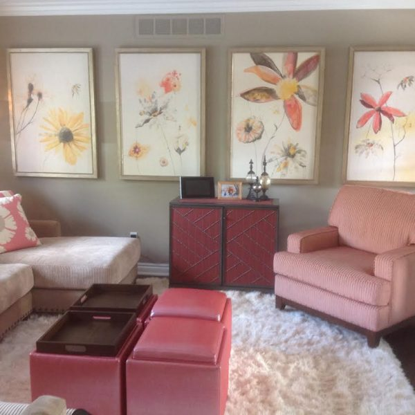 Pretty in Pink Playroom & Cozy Great Room In Oakland Township