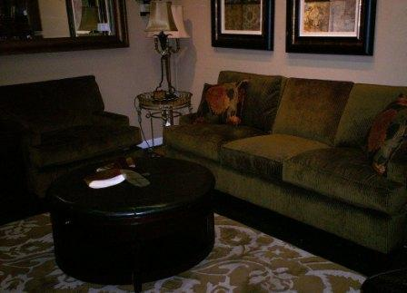 The Robinu0027s Egg Blue Accents Add A Designer Touch To The 3 Cushion Design.  Originally $2296, Now $$1607