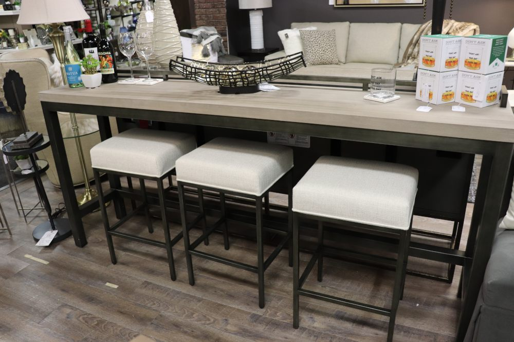 multi-functional furniture sofa table with barstools