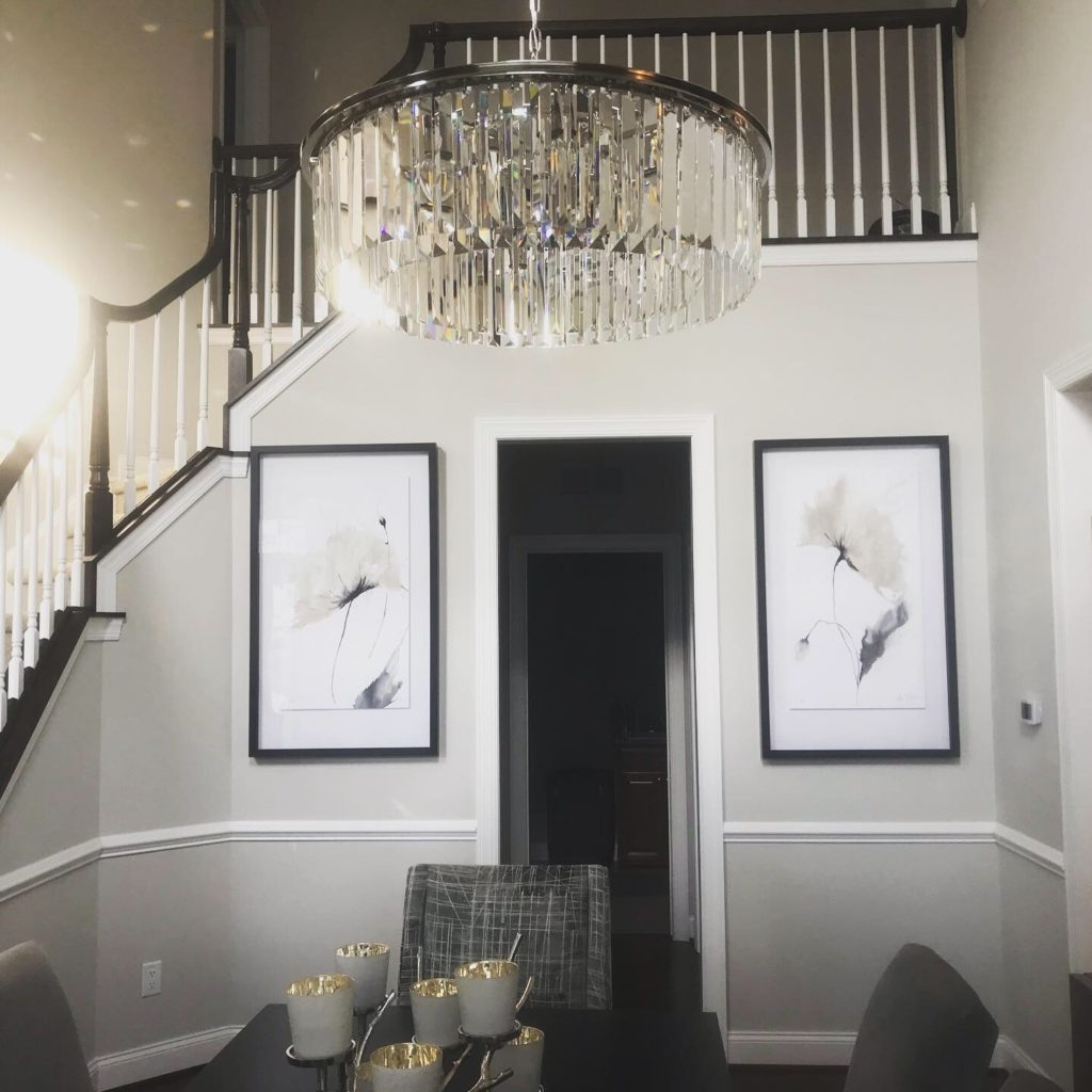 Interior Design Project focus on the chandelier