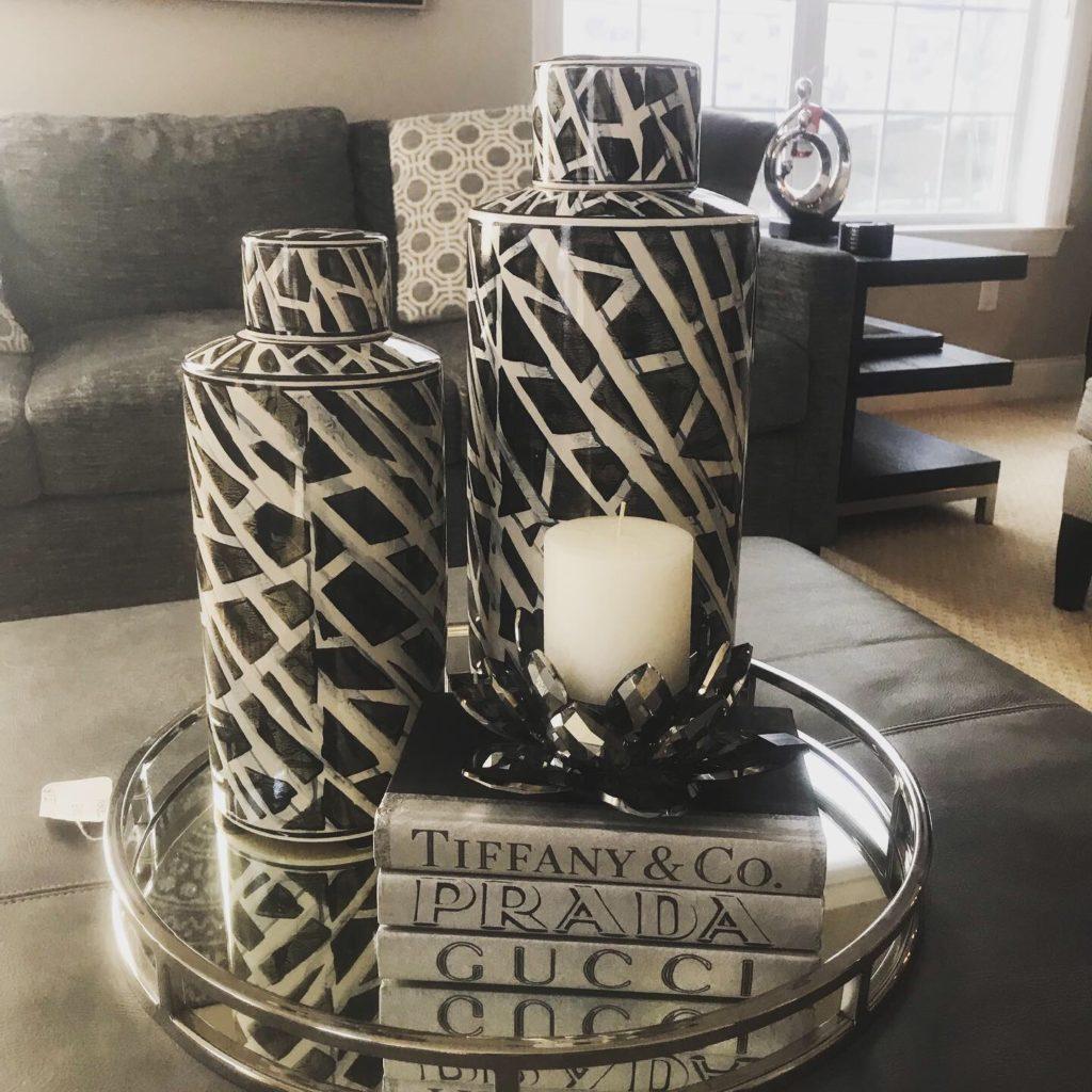 Coffee table arrangement in the Schmidt home