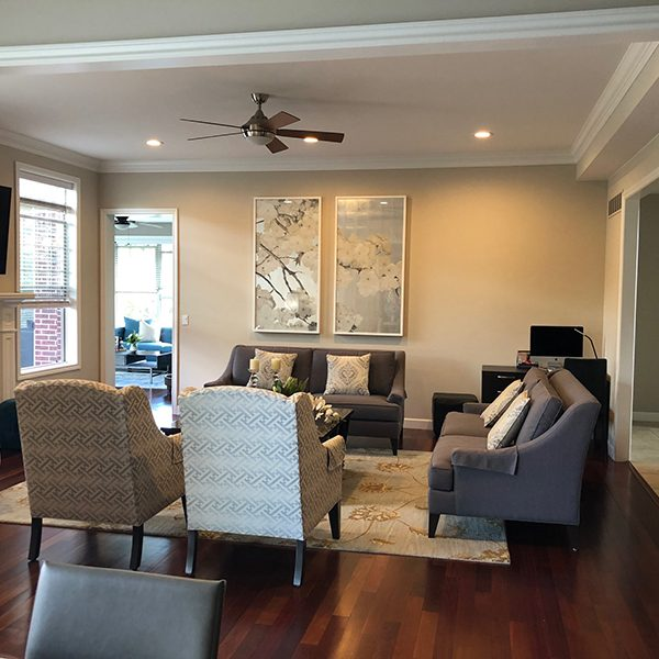 Canton Interior Design Project - A Cozy Family Room