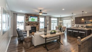 Modern Farmhouse style Great Room - Kensington Model