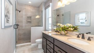 Modern Farmhouse style Master Bathroom - Kensington Model